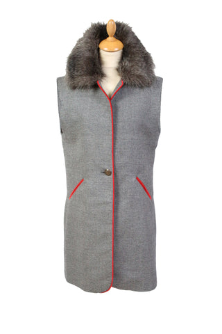 Gilet with Fluffy Collar