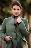 Lake | Tweed Field Green Coat