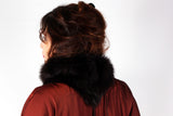Long Shearling Scarf Back