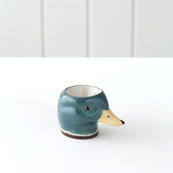 Ceramic Face Egg Cups-Kitchen & Dining-Quail-Mallard-Brassica Mercantile