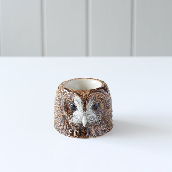 Ceramic Face Egg Cups-Kitchen & Dining-Quail-Tawny Owl-Brassica Mercantile