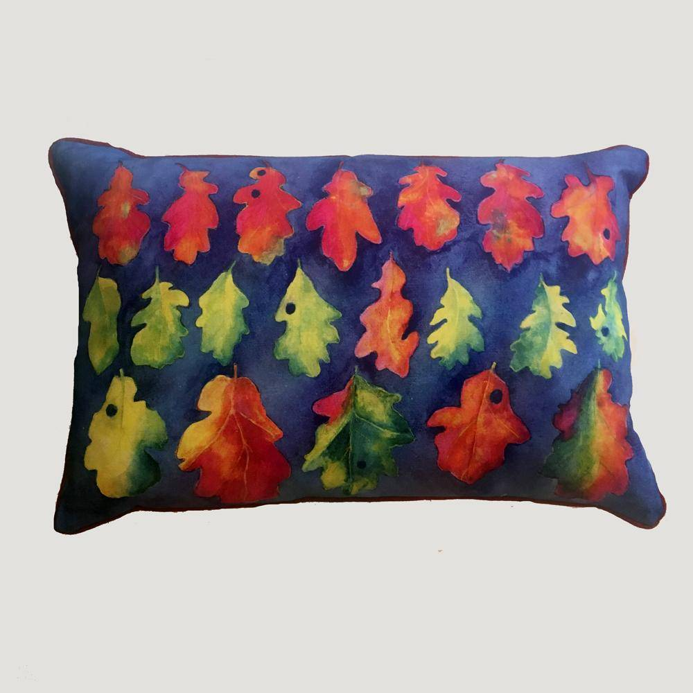 Digital Watercolour Cushions by Angela Chidgey-Textiles-Angela Chidgey-Oak Leaves-Brassica Mercantile