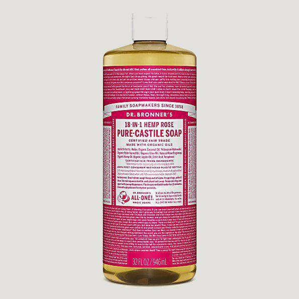 Dr. Bronner's Liquid Soaps-Home Accessories-Queenswood-Rose-946ml-Brassica Mercantile