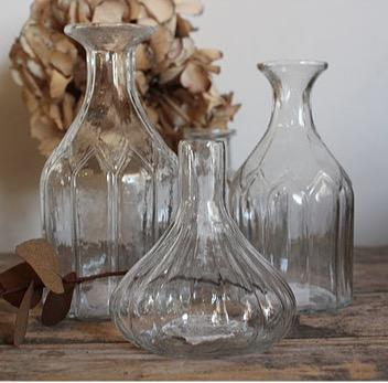 Glass Bottle Vases-Home Accessories-AFFARI-Rounded with neck-Brassica Mercantile