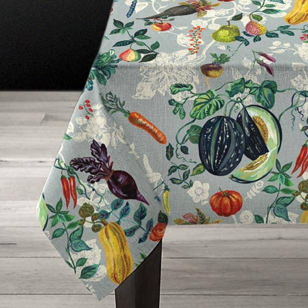 Nathalie Lété Vegetables Linens-Textiles-Avenida Home-Tablecloth-Brassica Mercantile