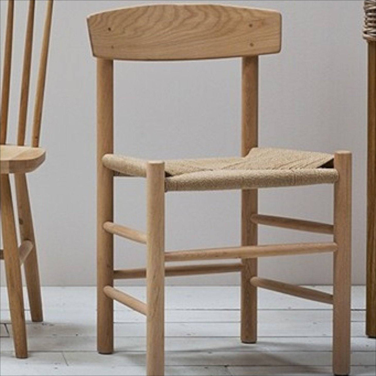 Oak & Jute Chair-Furniture & Lighting-Garden Trading-Brassica Mercantile