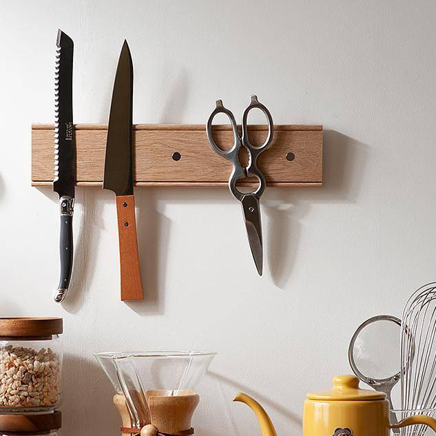 Oak Magnetic Knife Rack-Home Accessories-Creamore Mill-Brassica Mercantile