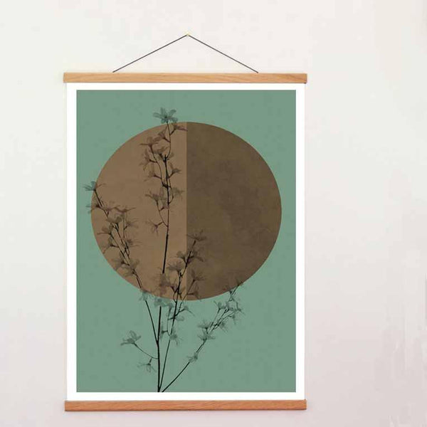 Oak Poster Hanger - A2-Home Accessories-Creamore Mill-Brassica Mercantile