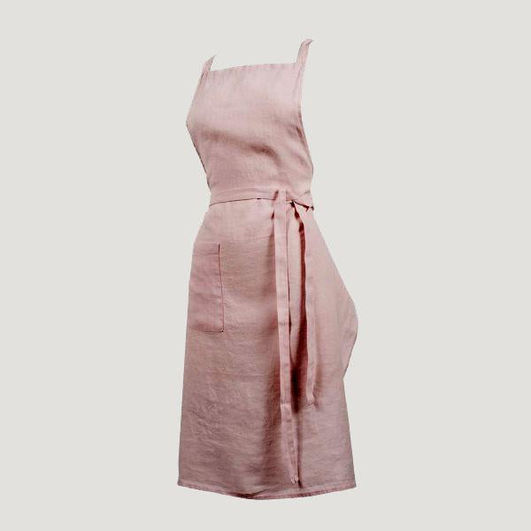 Washed Linen Apron-Textiles-Harmony-Pale Pink-Brassica Mercantile
