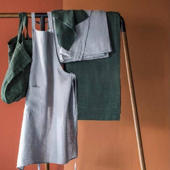 Washed Linen Apron-Textiles-Harmony-Brassica Mercantile