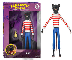 "Fantastic Mr. Fox Funko Legacy 6"" Action Figure Rat - Wes-Anderson.com"