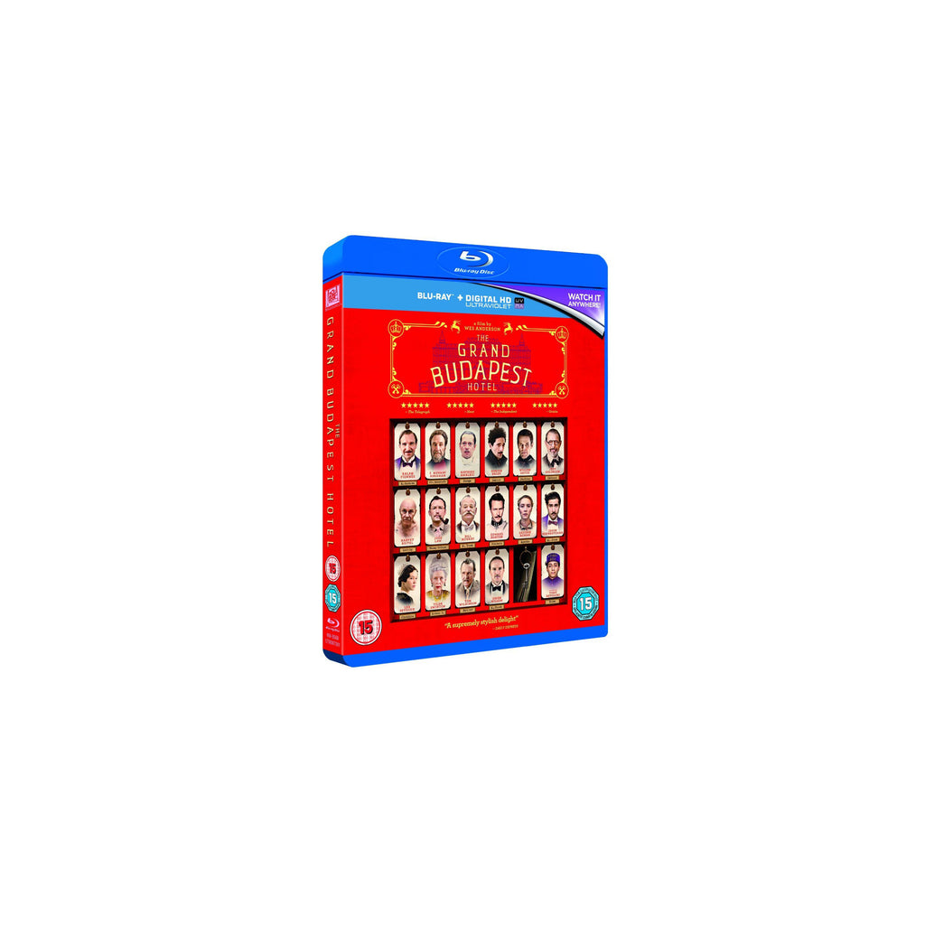 The Grand Budapest Hotel Blu Ray DVD Wes Anderson - Wes-Anderson.com