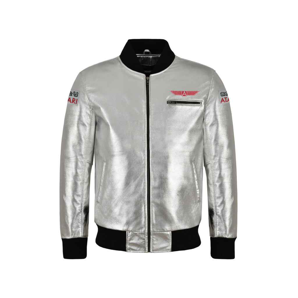 Atari Leather Bomber Jacket