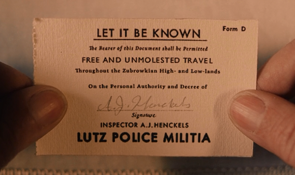 Free And Unmolested Travel Card Grand Budapest Hotel - Wes-Anderson.com  - 2