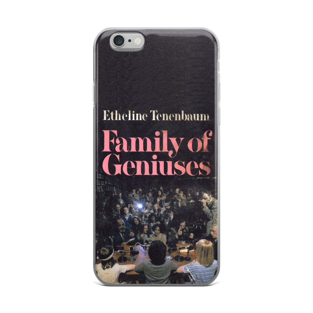 Family Of Geniuses iPhone Case The Royal Tenenbaums - Wes-Anderson.com  - 1