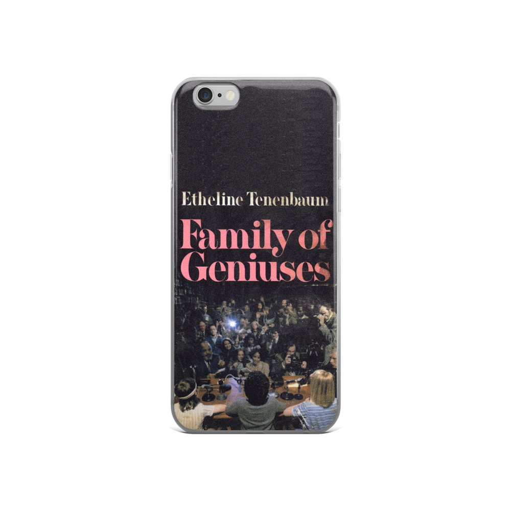 Family Of Geniuses iPhone Case The Royal Tenenbaums - Wes-Anderson.com  - 5