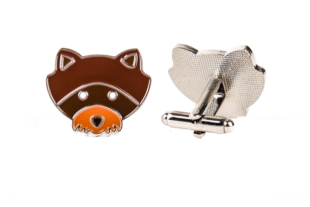 Raccoon Cufflinks Moonrise Kingdom Khaki Scout