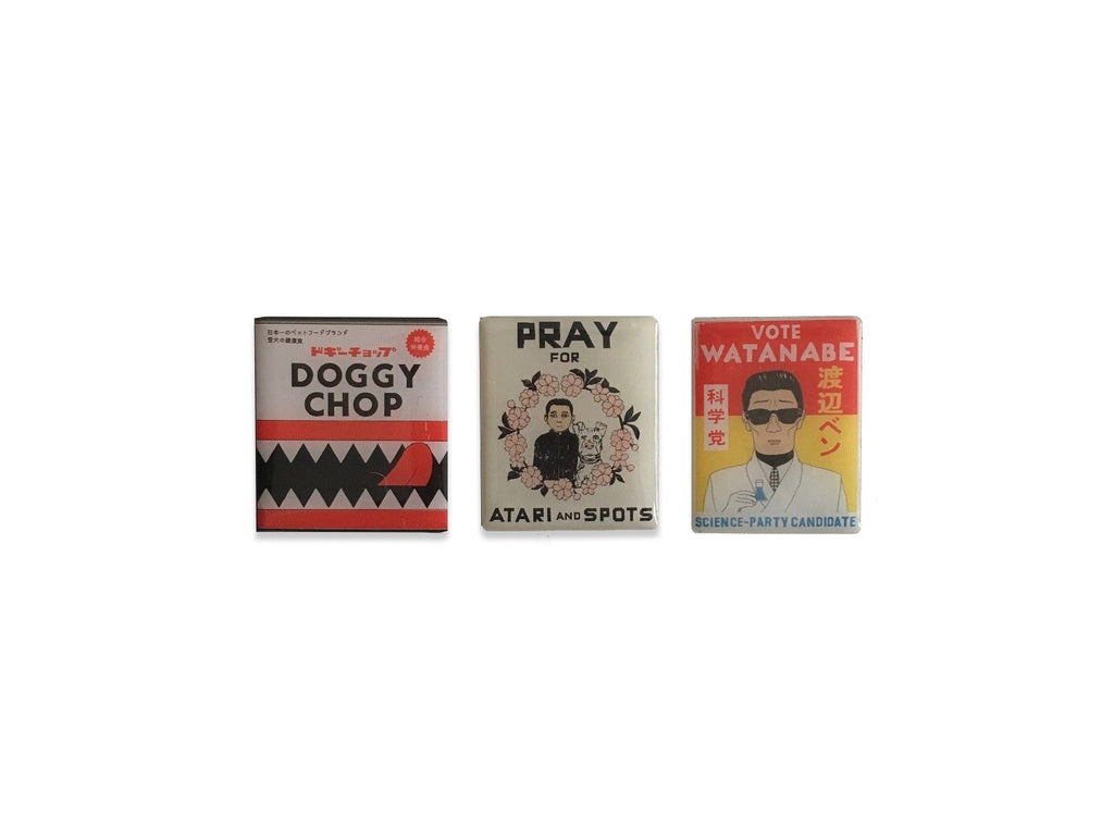 Isle Of Dogs Pin Badges Set