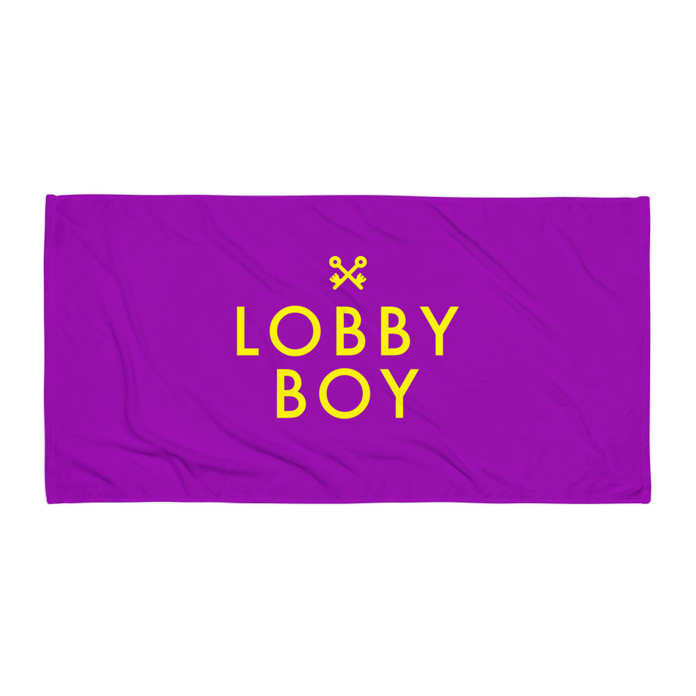 Lobby Boy Beach Towel