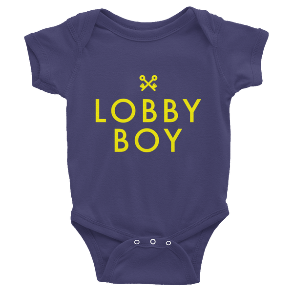 Lobby Boy Infant Baby Rib Short Sleeve - Wes-Anderson.com