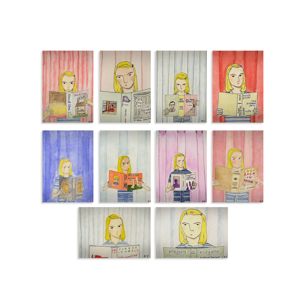 Margot Tenenbaum Watercolors Card Set The Royal Tenenbaums