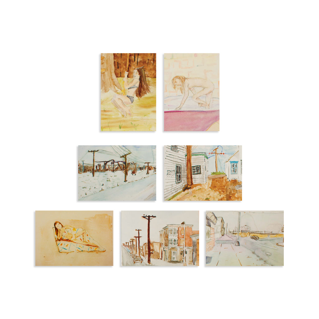 Moonrise Kingdom Sam Shakusky Watercolour Cards Set