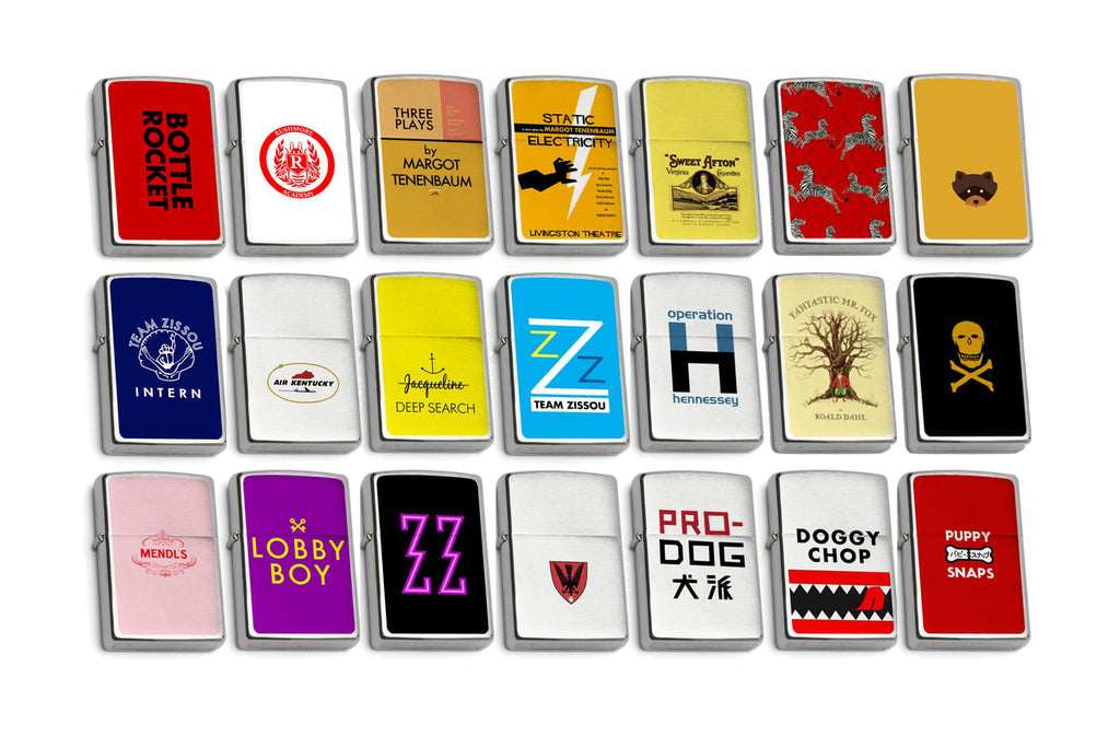 Wes Anderson Zippo Lighter Collection