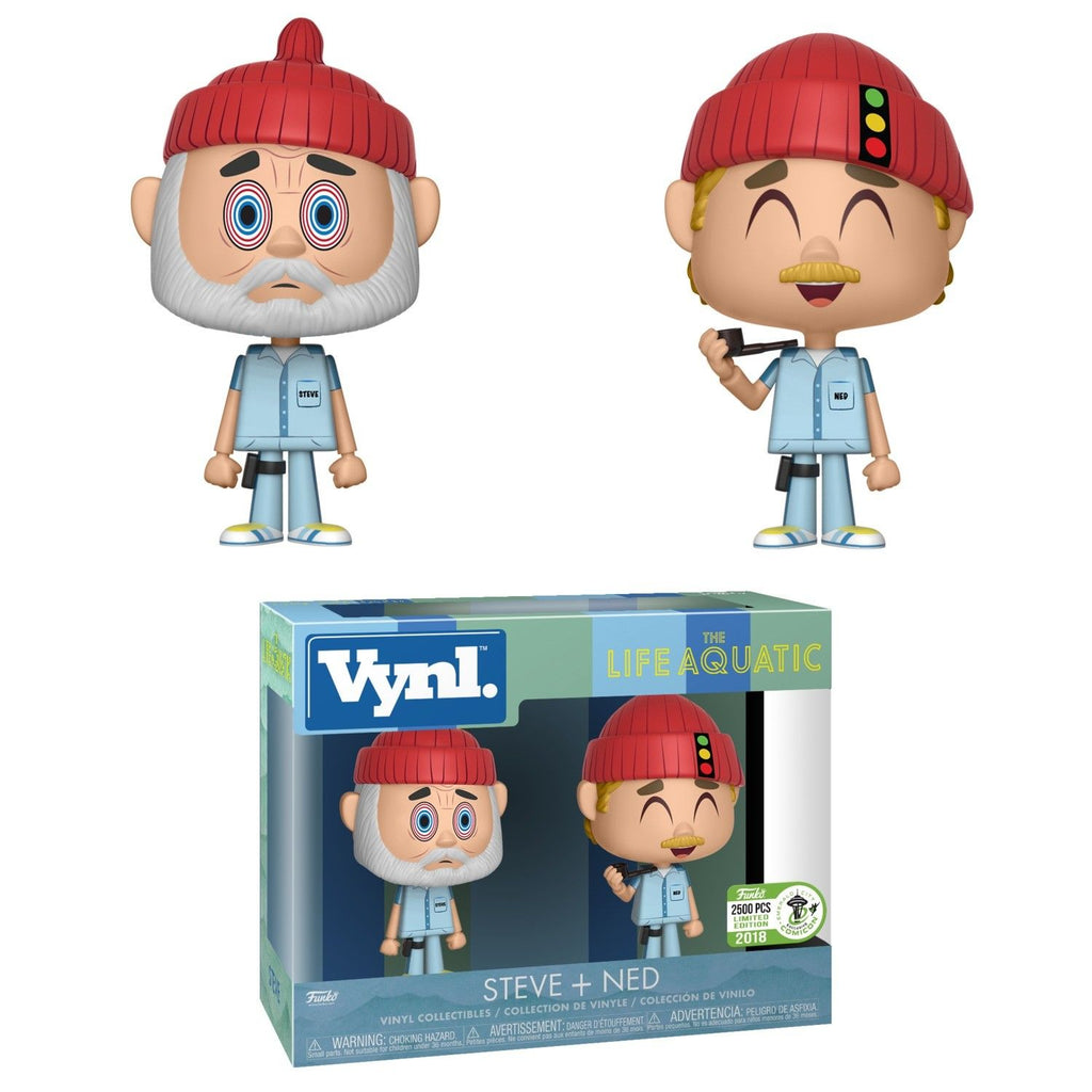 Steve + Ned Zissou Vinyl Figure Life Aquatic With Steve Zissou
