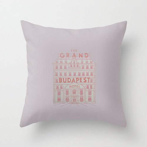 The Grand Budapest Hotel Throw Pillow - Wes-Anderson.com