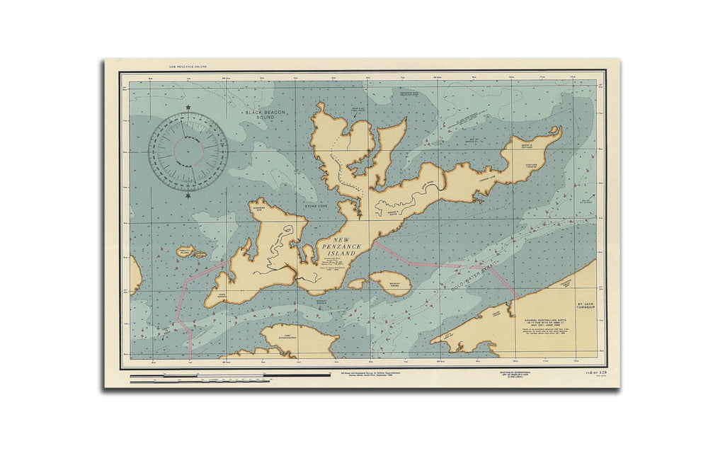 New Penzance Island Map Moonrise Kingdom - Wes-Anderson.com