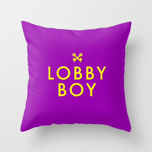 Lobby Boy Pillow - Wes-Anderson.com