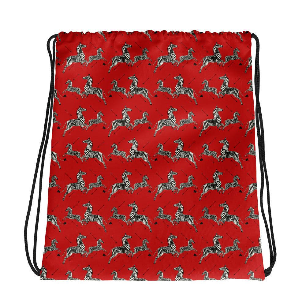 Zebras Drawstring Bag