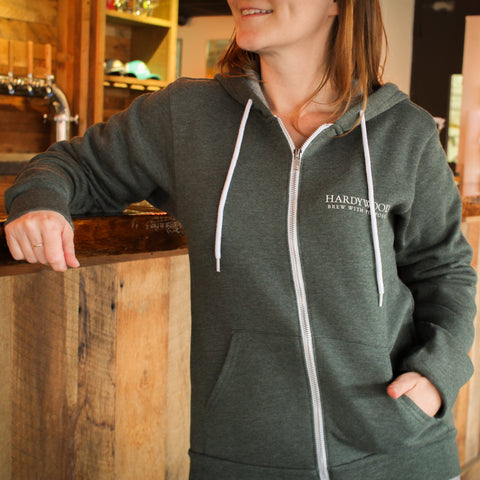 Hardywood Green Unisex Full Zip Hoody