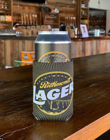 Black and Gold Richmond Lager Koozie