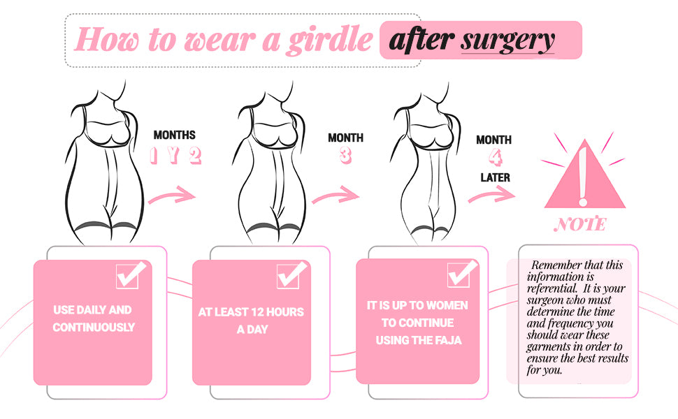How to wea a girdle after surgery