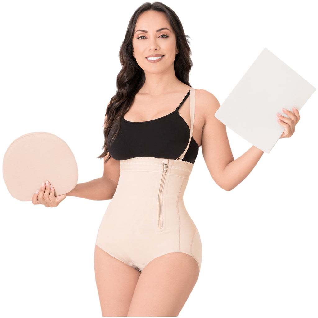 Be Shapy | Diane & Geordi 2405 Colombian Fajas Body Shaper + Ab Board After Tummy Tuck + Abdominal Lipo Foams