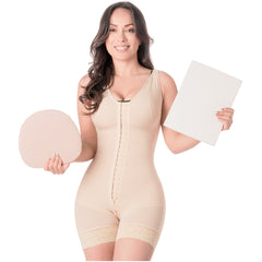 Be Shapy | M&D 029 Body Shaper Faja After Surgery + Abdominal Lipo Board & Foam After Lipo | Colombian Fajas