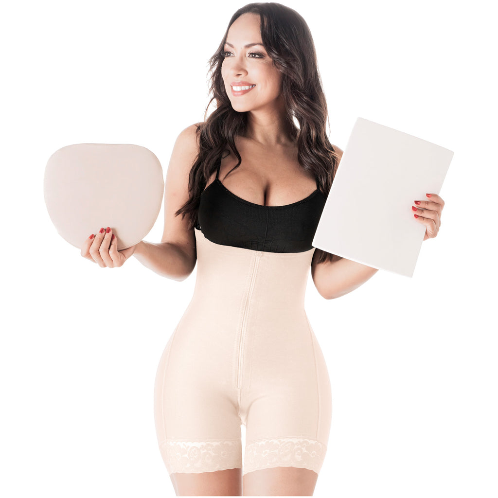 Be Shapy | Salome 0215 Women Butt Lifter Colombian Fajas for Dress + Tummy Board | Postpartum and Daily Use Shapewear