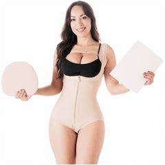Be Shapy | Salome 0419 Women's Colombian Fajas + Liposuction Ab Board | Tummy Control and Butt Lifter Shapewear for Women