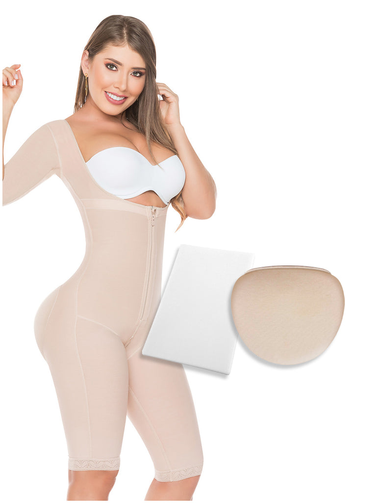 Be Shapy | Salome 0525 Postperative Colombian Fajas + Liposuction Board | Shapewear after Surgery with Sleeves