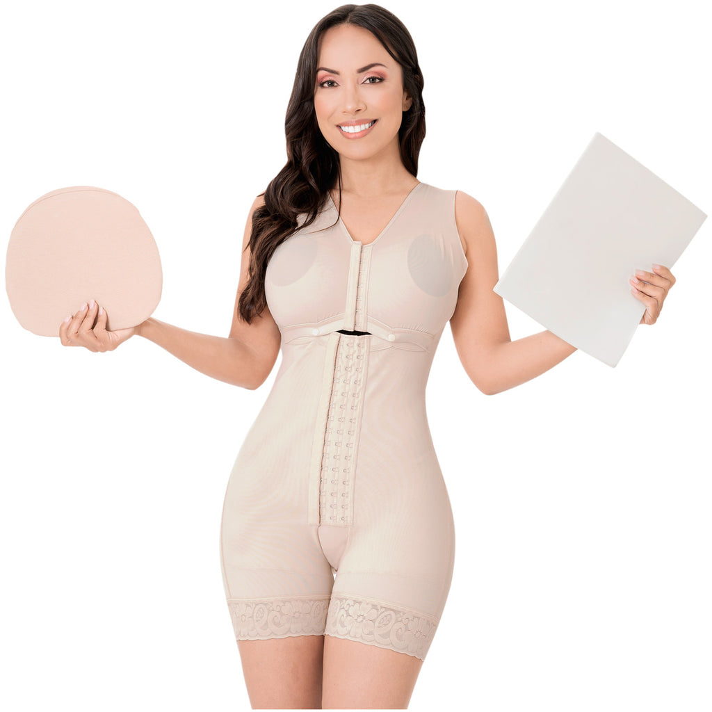 Be Shapy | Sonryse 086 Colombian Full Body Shaper Faja After Surgery + Lipo Ab Board + Lipo Foam After Liposuction