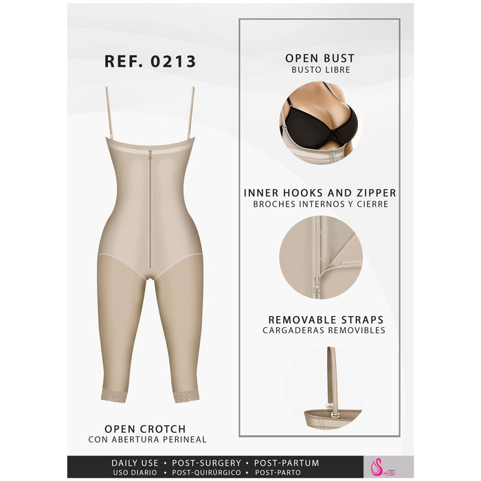 Fajas Salome 0213 | Full Body Girdle Butt Lifter Shapewear - Shapes Secrets