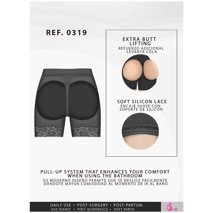 Fajas Salome 0319 | Open Bottom Shaper for Butt Enhancement - Shapes Secrets