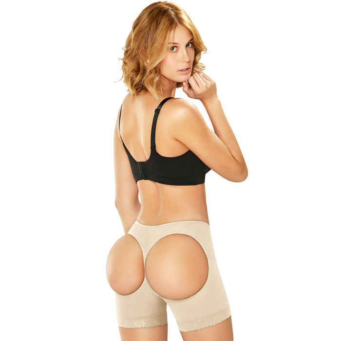 2398 Diane Powernet Butt Lifter Shorts with Cut Outs