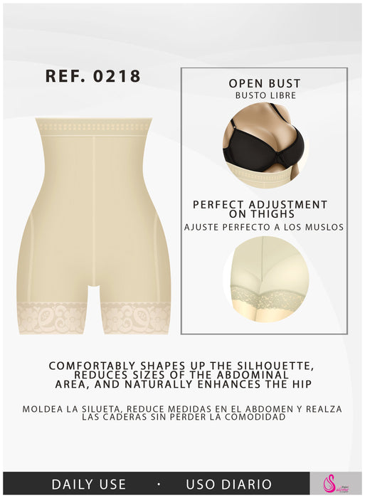 Fajas Salome 0218 | Colombian Faja High-Waist Shorts for Women | Daily Use Body Shaper with Butt Lifting and Tummy Control