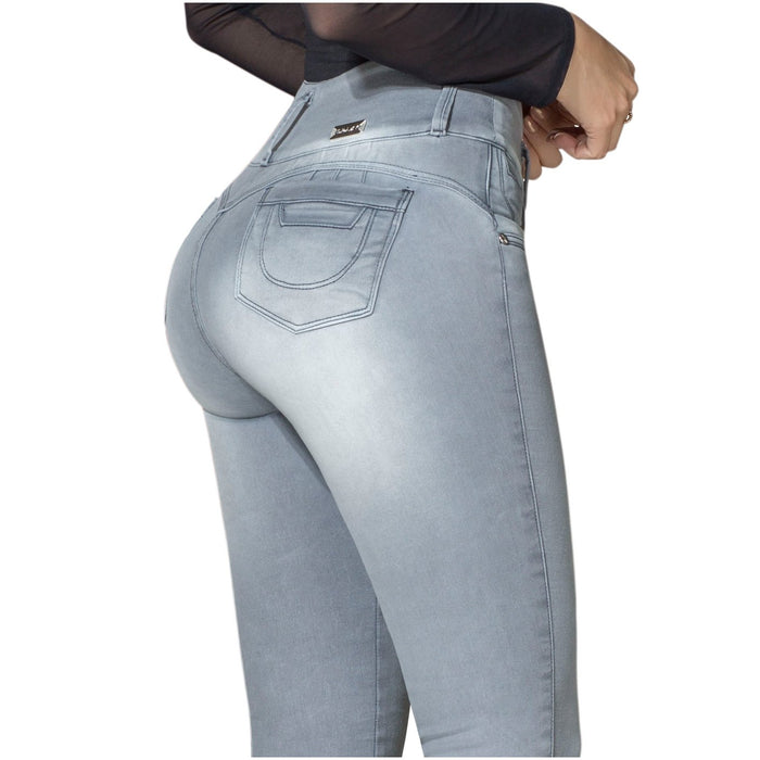 DRAXY 1316 Colombian Skinny Washed-out Butt Lifter Jeans - SS