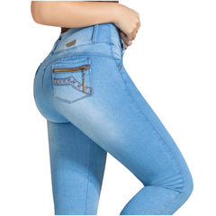 DRAXY 1317 Colombian Skinny Wide Waistband Denim Butt lifter Jeans - SS