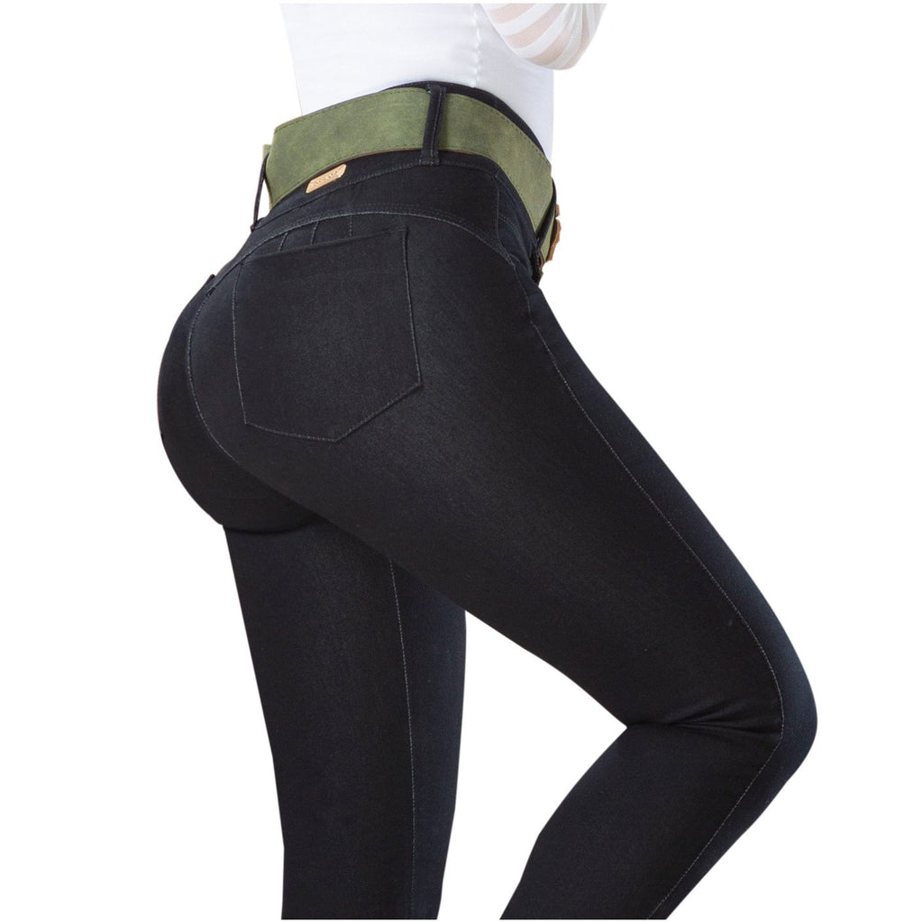 DRAXY 1324 Colombian Butt lifter Mid Rise Skinny Jeans - SS
