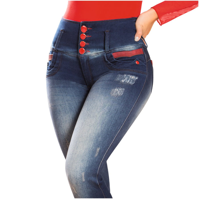 DRAXY 1342 Colombian Women's High Waisted Skinny Jeans - SS