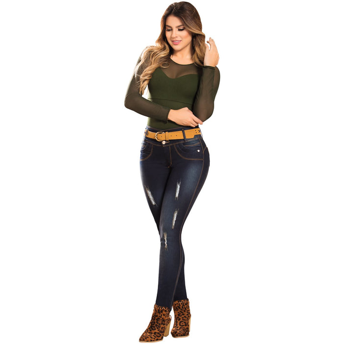 DRAXY 1344 Colombian Mid Rise Skinny Jeans - SS